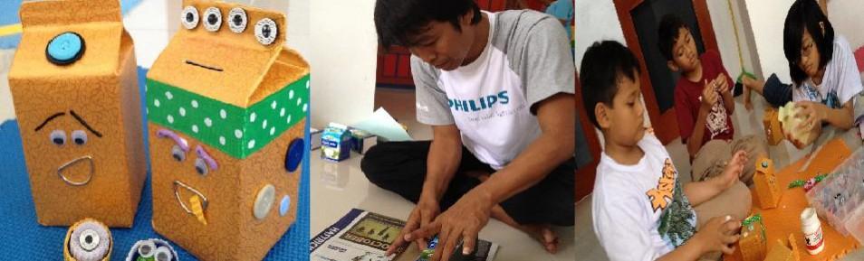 Workshop Pelatihan Sampah Jadi Uang Celengan Ken di Cibubur